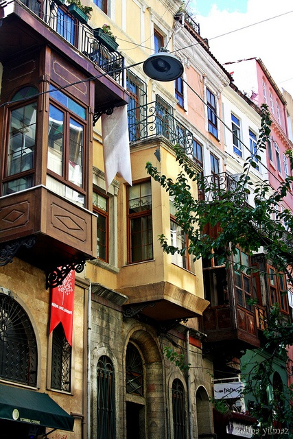 colourful fasades on a backstreet by Taksim, Istanbul