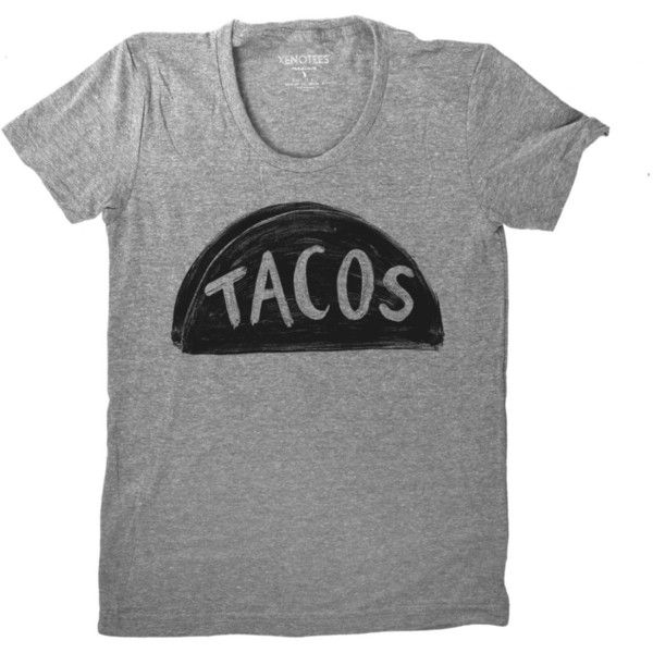New Women's Grey Taco Tuesday Tshirt Mothers Day Gift for Women... ($25) ❤ liked on Polyvore featuring tops, t-shirts, graphic design shirts, fish t shirt, t shirts, grey graphic tee and grey shirt