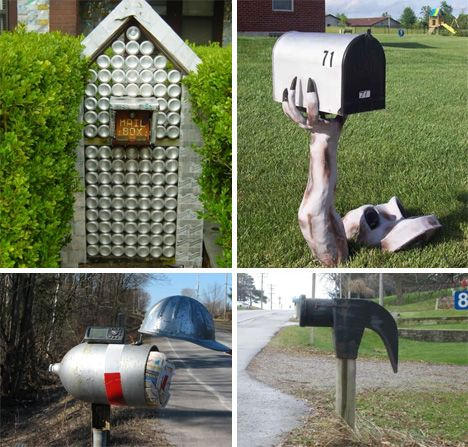 1000 images about mailboxes and lawn ornaments on for Unique mailboxes with post