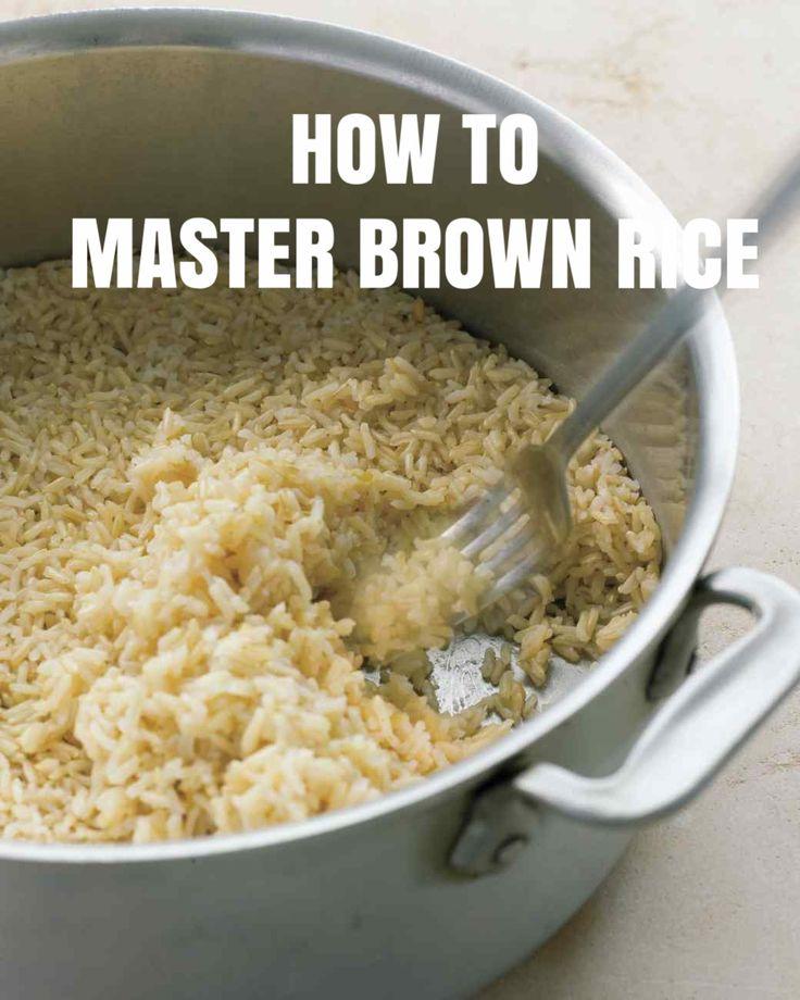 Master Recipe: Brown Rice | Martha Stewart Living
