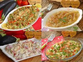 Közlenmiş Patlıcan İle Bir Çırpıda Hazır Olacak 10 Pratik Salata Tarifi