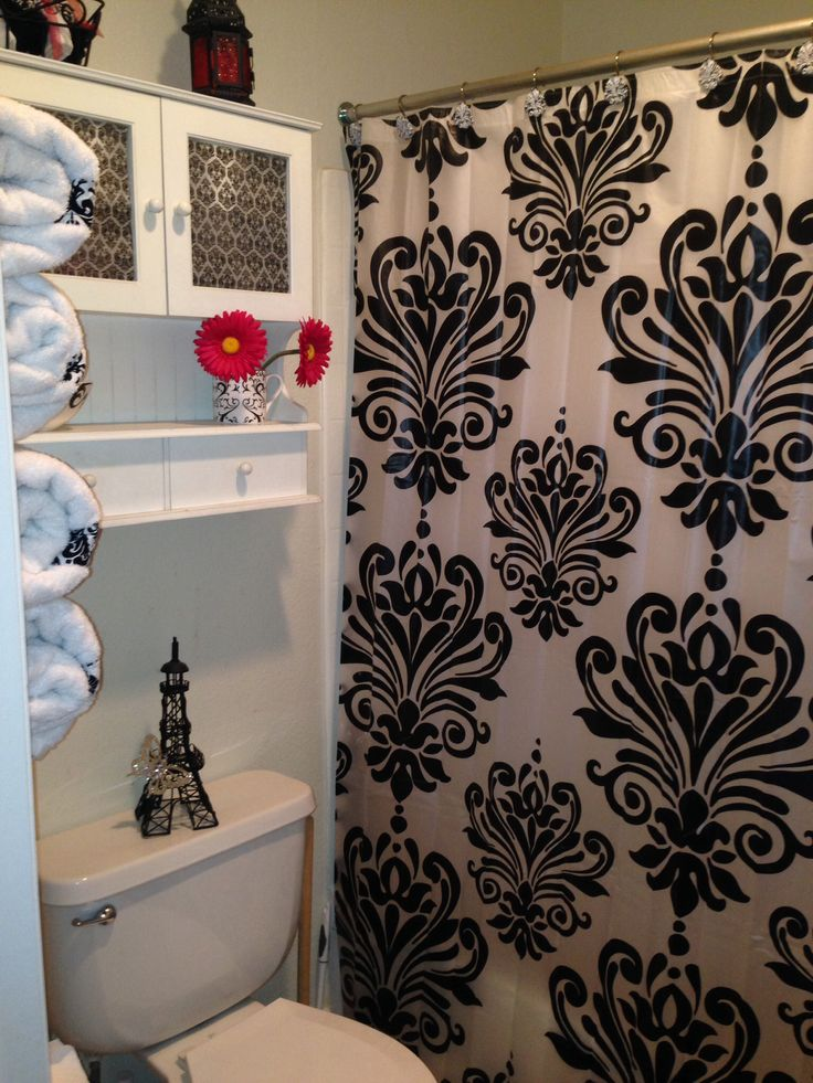 This is a pin from the internet.  I love this shower curtain.  I found one very similar.  I debated whether to get an Eiffel Tower curtain or this one.  I'm glad I chose this one, because it captures the feeling of Paris without screaming tourist who went to Paris :P