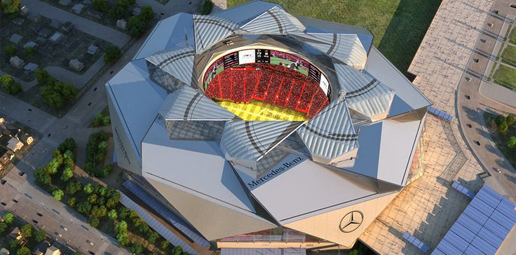 Project:  Mercedez-Benz Stadium (Atlanta Falcons, Atlanta United FC) Project Location:  Atlanta, Georgia Designer:   HOK  (Architecture,...