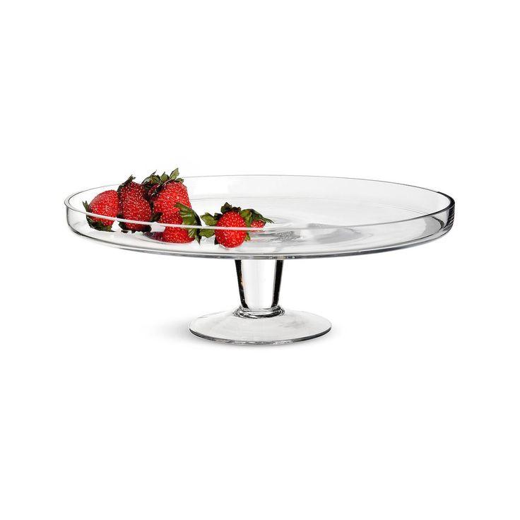 Tortenplatte Glas auf Fuss klar ca H:10 x D:30 cm