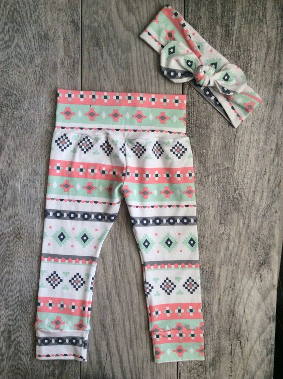 Baby Girl Leggings and Headband. Baby Girl Gift Set. Gift For Baby Girl. Leggings and Headband. Pink Stripes. by SweeteeHandmade on Etsy https://www.etsy.com/listing/239408159/baby-girl-leggings-and-headband-baby