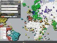 Moteur de recherche de la presse mondiale. Plus de 10 000 titres sur une carte Google Maps. #veille