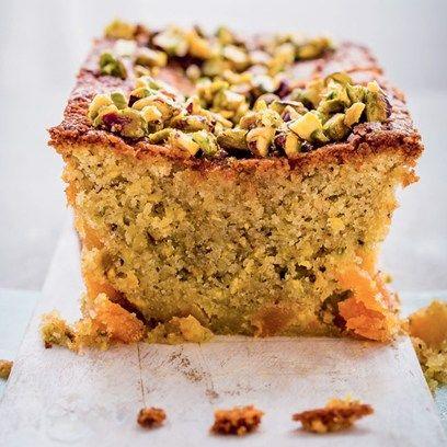 Pistachio, apricot and orange blossom cake