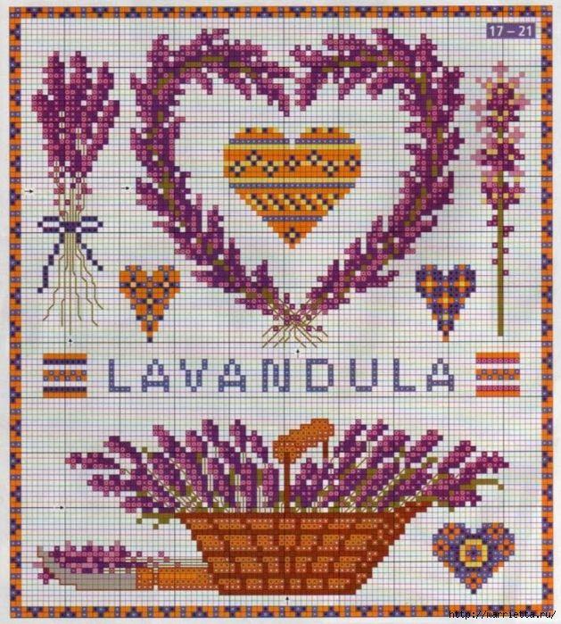 ЛАВАНДА. Схемы вышивки крестом (19) (629x700, 443Kb)