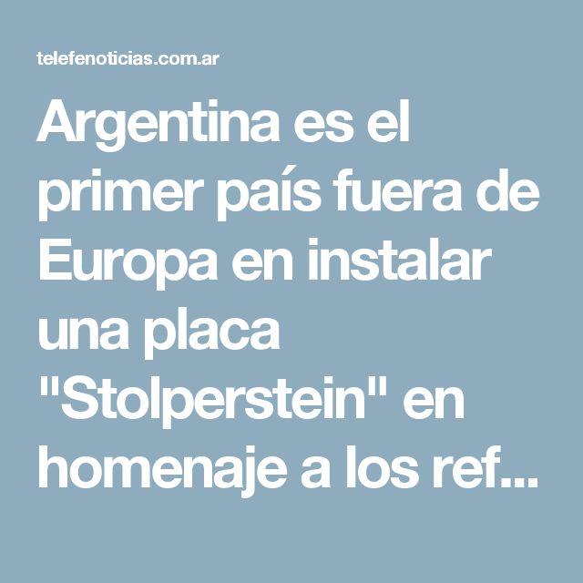"""Argentina es el primer país fuera de Europa en instalar una placa """"Stolperstein"""" en homenaje a los refugiados que huyeron del nazismo - Telefe Noticias"""