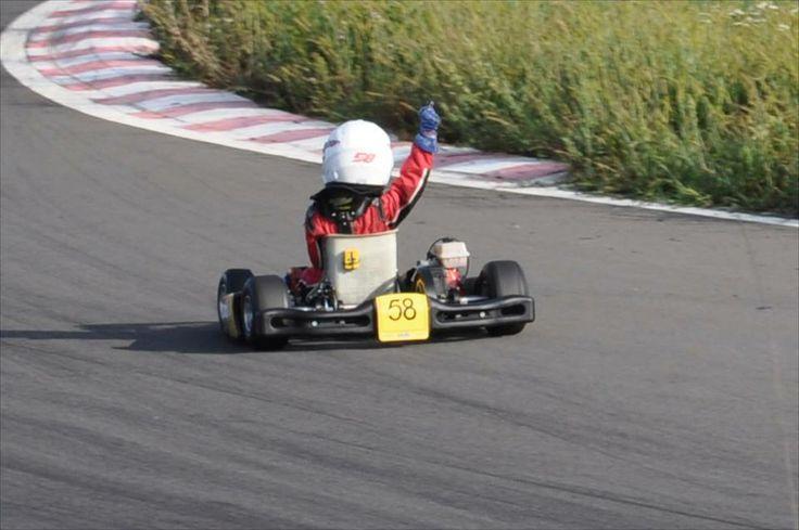 #Matia58 - Winning 5th race Prefinal in the  Romanian National Karting Championship @Prejmer September 2013 #kidkart #Matiacuruia #crg #karting #PrejmerCircuit #winrace #vice-champion