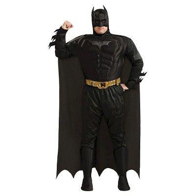 Men's DC Comics Batman Deluxe Muscle Chest Costume Xxl(50-52), Size: Xxl (50-52), Black
