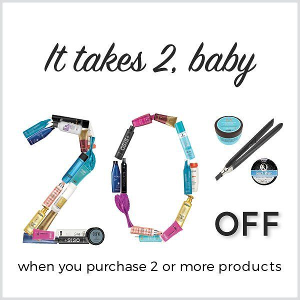 """Reminder of our """"It takes 2 baby promotion""""  Last day to save 20% is Thursday 24th August.  Great discount to stock up on your favourite hair care."""