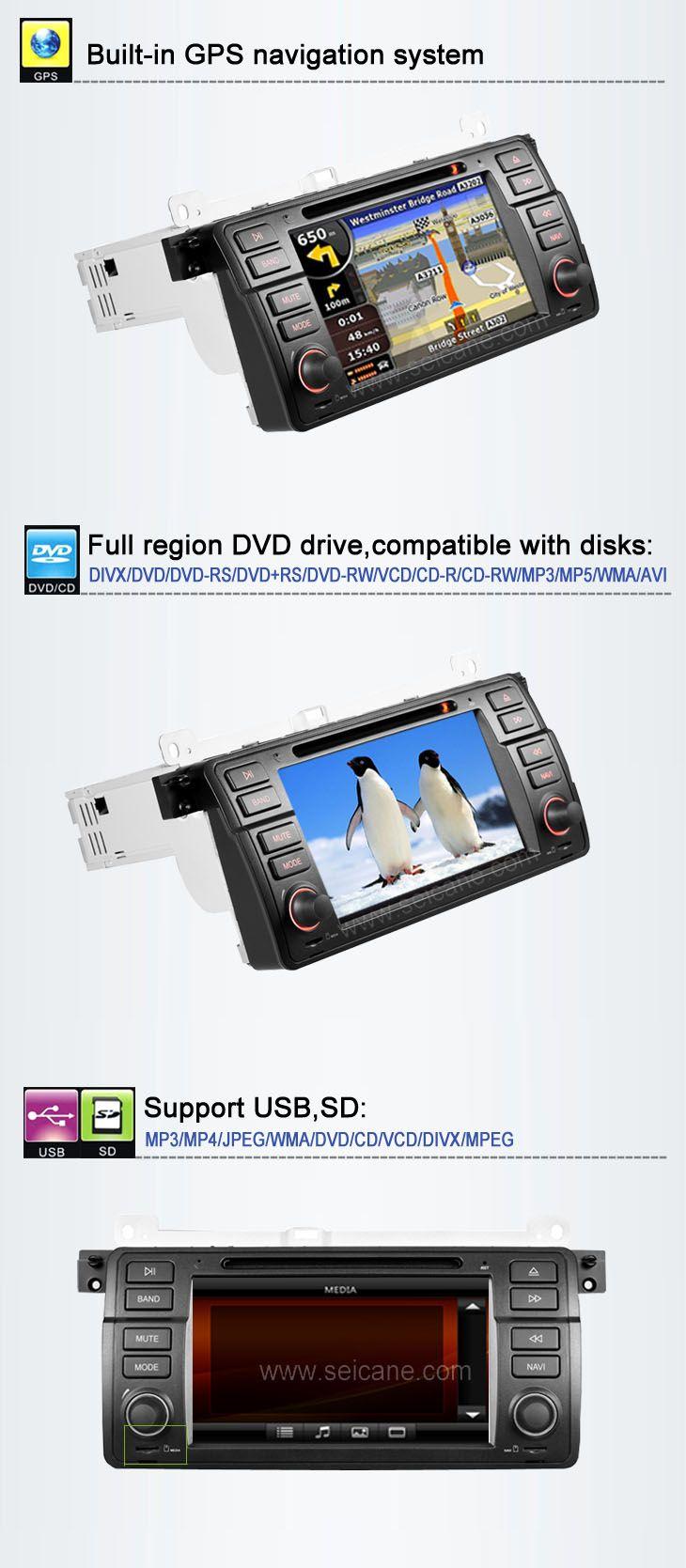 In-Dash Auto DVD Gps navigation Stereo für BMW 3 Series E46 mit Radio TV Bluetooth Ipod