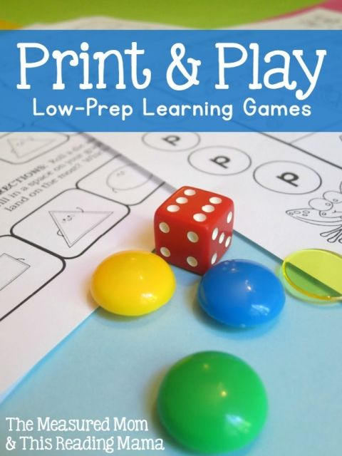 Print and Play - Low-Prep Learning Games | a series from The Measured Mom and This Reading Mama