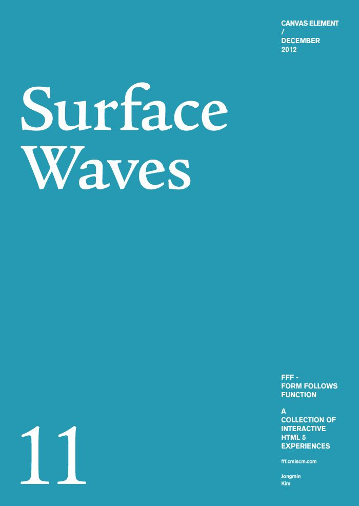 Form Follows Function - Surface Waves - collection of interactive html5 experinces