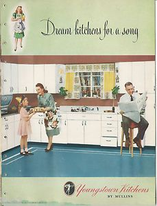 1948 YOUNGSTOWN KITCHENS Design Catalog Vintage Home Decor Retro Steel Cabinets