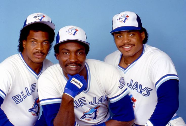 George Bell, Lloyd Moseby and Jesse Barfield  Sept. 3, 1981 the first time this outfield combination played together.