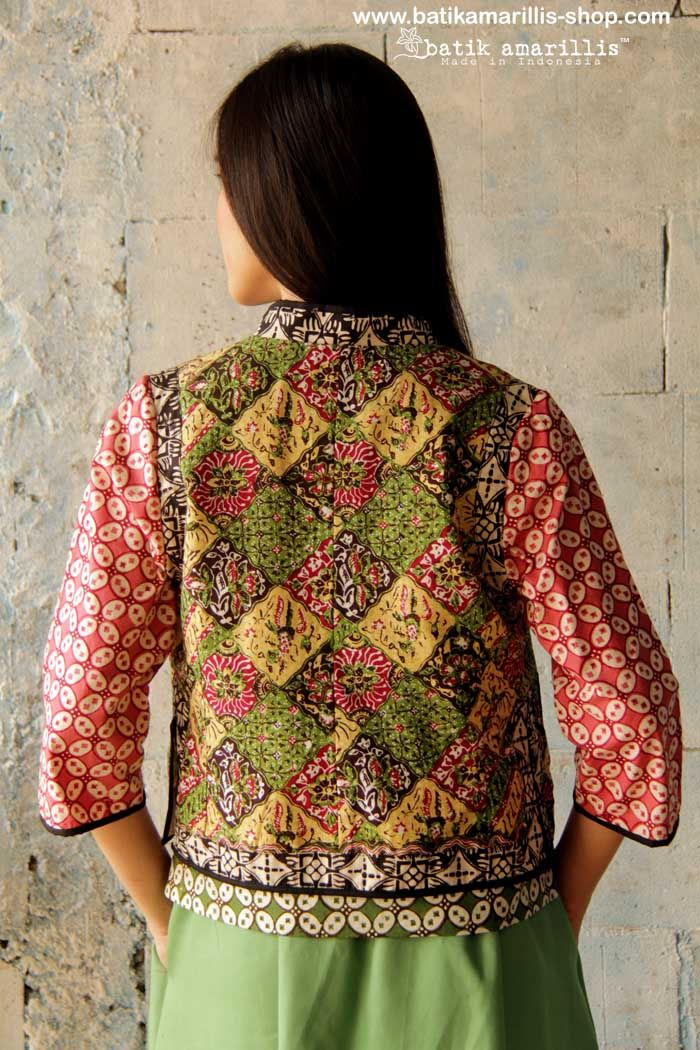 batik amarillis's torera vest  AVAILABLE at www.batikamarillis-shop.com it's a matador/bullfighter inspired jacket ..This is when the very feminine style meet masculine look of the tuxedo or the toreador silhoutte