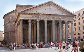 El Panteón de Agripa o Panteón de Roma (en italiano: Il Pantheon) es un templo de planta circular erigido en Roma por Adriano, entre los años 118 y 125 d. C. completamente construido sobre las ruinas del templo erigido en el 27 a. C. por Agripa, destruido por un incendio en el año 80,1 dedicado a todos los dioses