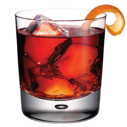 Ten Negroni -- 1 oz Tanqueray No. TEN Gin, .75 oz Bitter Liquer, .75 oz Sweet Vermouth. Garnish with an orange twist and serve stirred on the rocks.