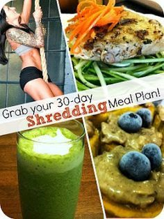 I know Jillian Michael's 30 day shred diet is in demand and everyone wants to know her diet plan. I searched a lot on internet and found this diet plan which is for her extreme shred level but definitely it will work for 30 day Shred too.