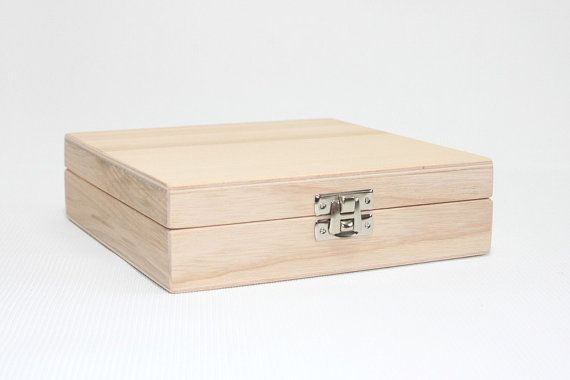 Wooden CD Box/ Keepsake Box / CD Gift Box / CD Storage Box / Ash Wood Box 5.90 x 5.90 x 1.57 inch