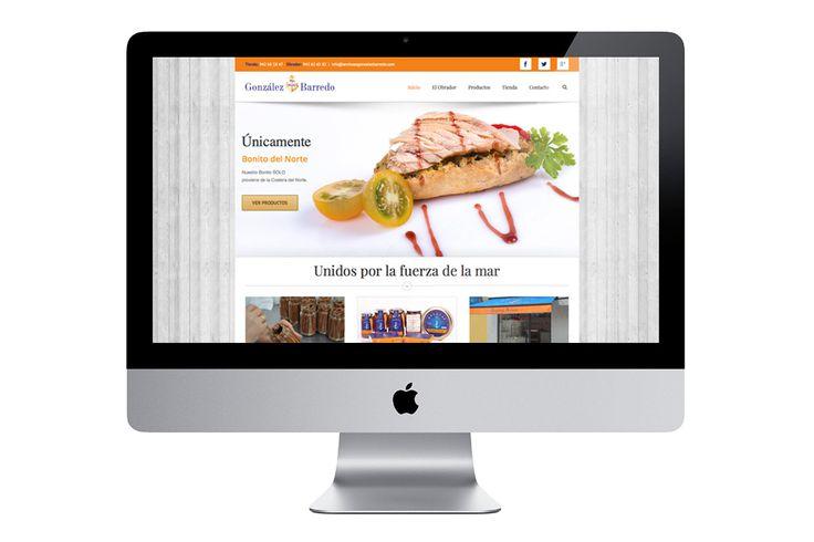 Diseño de la página web del obrador de anchoas de Santoña, bonito del norte y conservas del mar González Barredo. Incluye plano de ubicación, catálogo de productos y formulario de contacto para la realización de pedidos online.