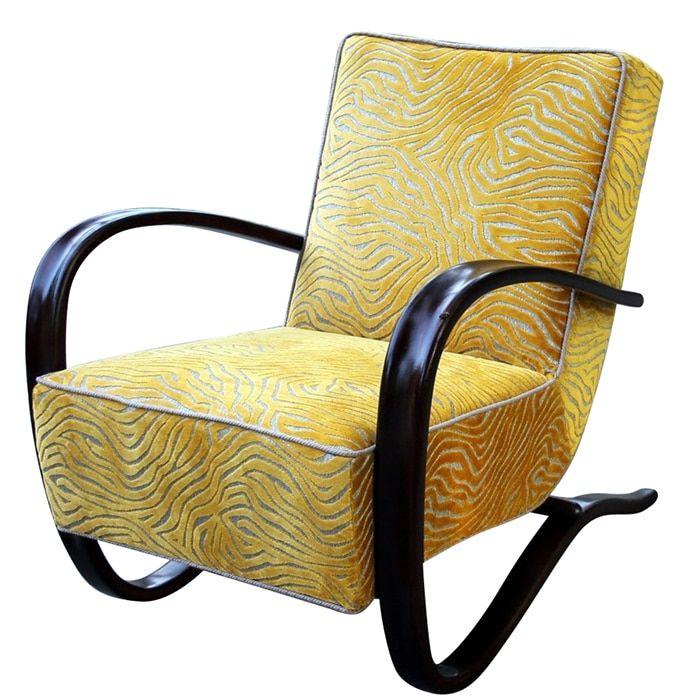 Fotel H-269 to jeden z najbardziej pomysłowych i oryginalnych projektów Jindřicha Halabala, stworzonych dla Spojené…