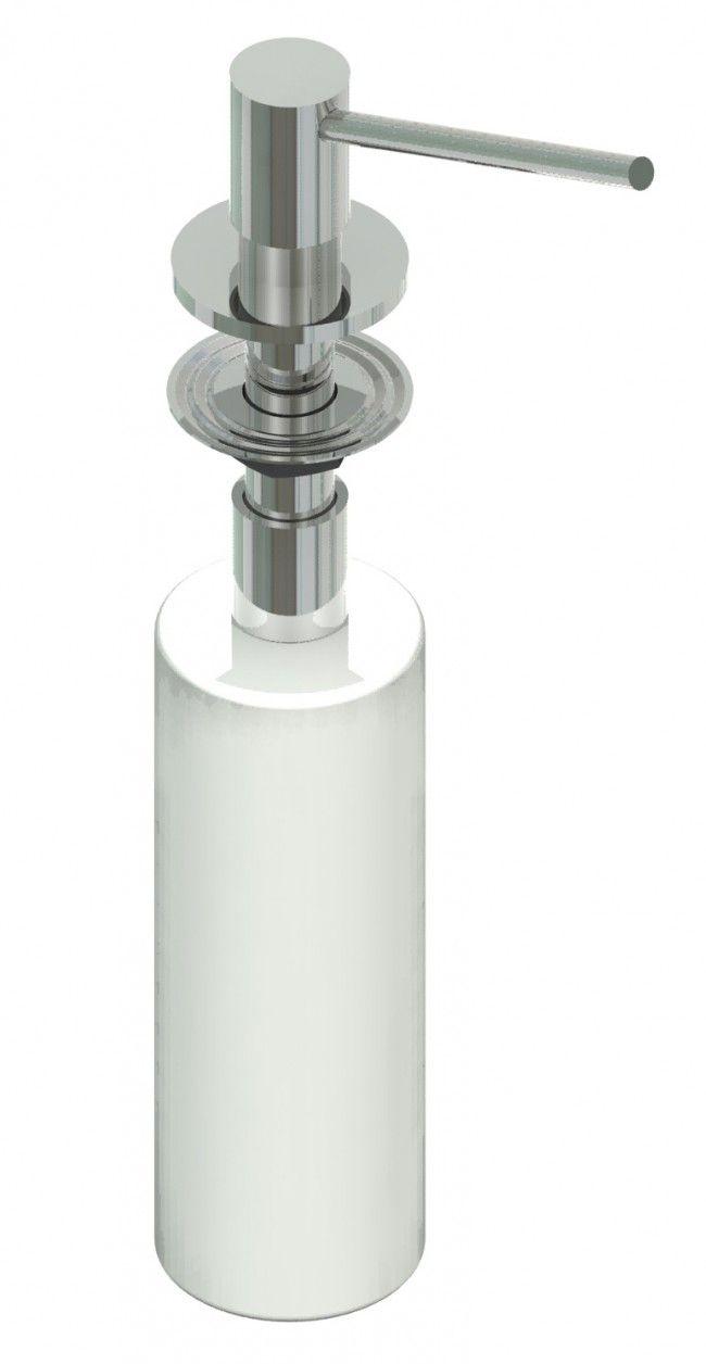Dosatore sapone da incasso rotondo Satinato APM serie Dosatori
