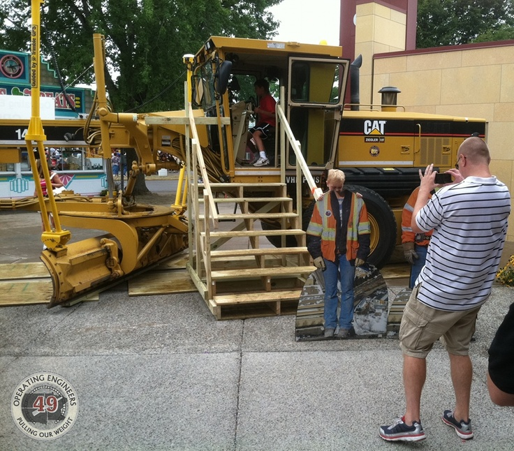 The easy, safer way to get into a Motor Grader