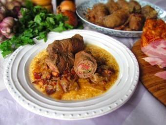 Beef rolls Maltese style