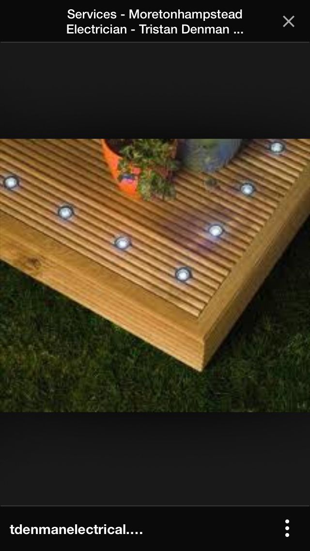 Lighting. Outdoor Deck ...