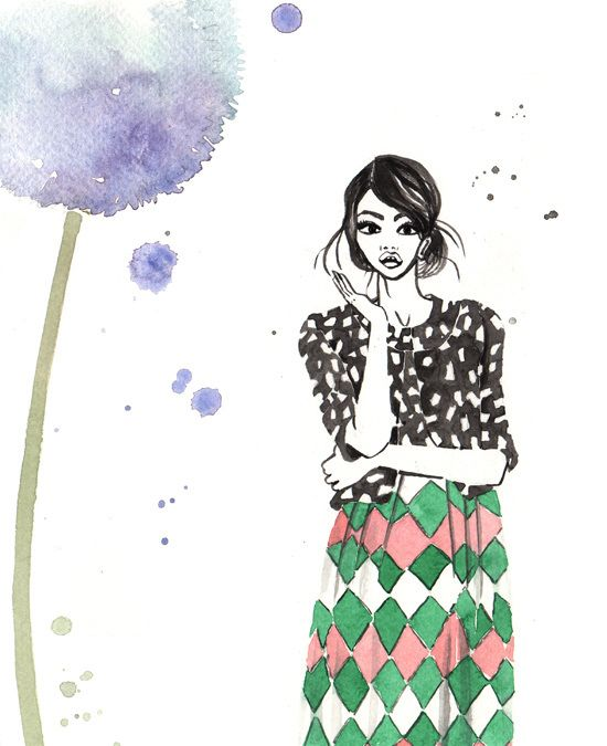 BODEN S/S 2015  watercolour fashion illustration by Giorgia Bressan