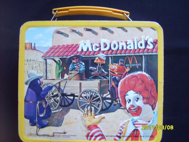 1982 McDonalds Metal Lunch Box Vintage Aladdin Metal Lunchbox by olysoldies on Etsy https://www.etsy.com/listing/69702618/1982-mcdonalds-metal-lunch-box-vintage