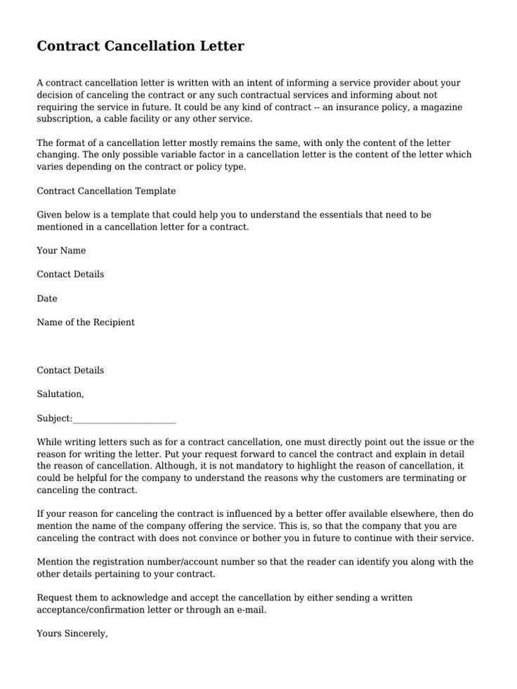 contract cancellation letter surety bond guarantee Home Design - letter of intent contract