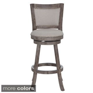 29-inch Wood Bar Stool with Leather Swivel Seat  sc 1 st  Pinterest : swivel stools - islam-shia.org