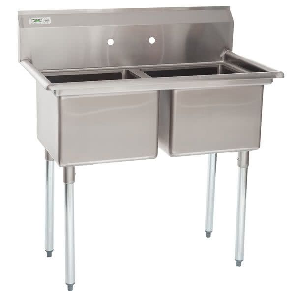 Regency 41 16 Gauge Stainless Steel Two Compartment Commercial Sink Without Drainboards 17 X 17 X 12 Bowls Commercial Sink Sink Home Furnishing Stores