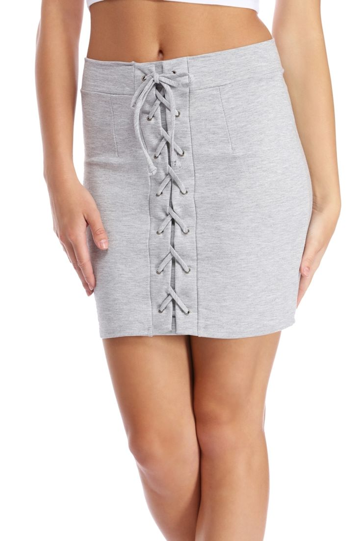 Final Sale- Heather Gray Wind It Up Skirt