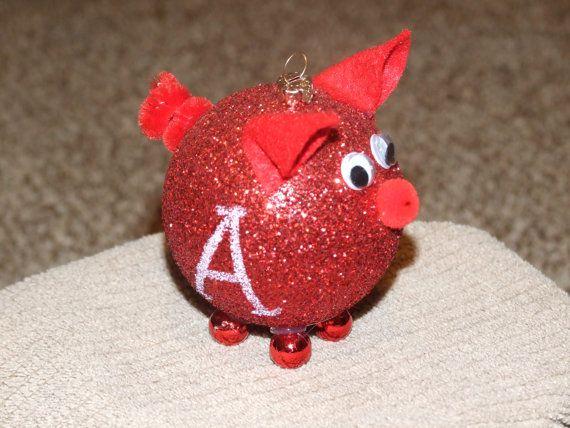 Hog ornament christmas ornament home decor housewares for Pig decorations for home