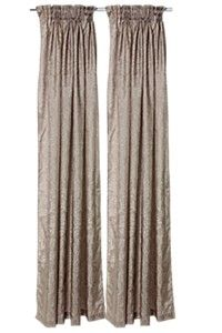 2 PACK UNLINED TAPED CURTAIN