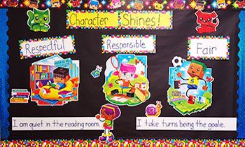 Trend BlockStars! Character Shines Bulletin Board by Classroom Direct