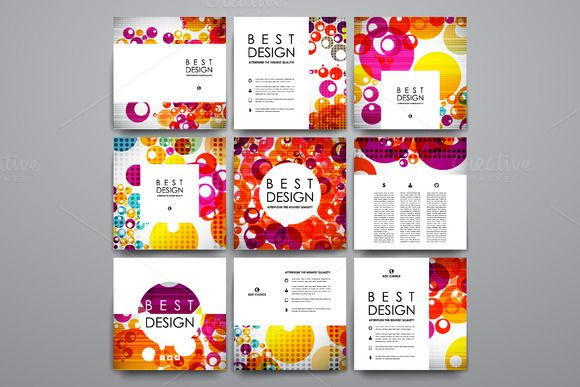 Colourful Card Templates by @Graphicsauthor