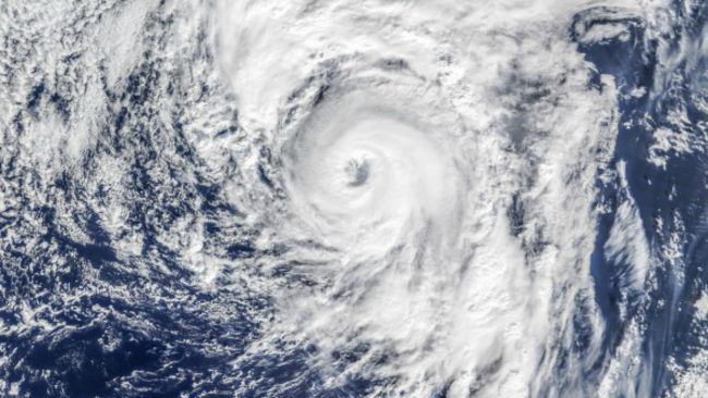 Hurricane Alex as seen on January 14, 2016, by the the Moderate Resolution Imaging Spectroradiometer (MODIS) on NASA's Terra satellite. Image via NASA Earth Observatory.