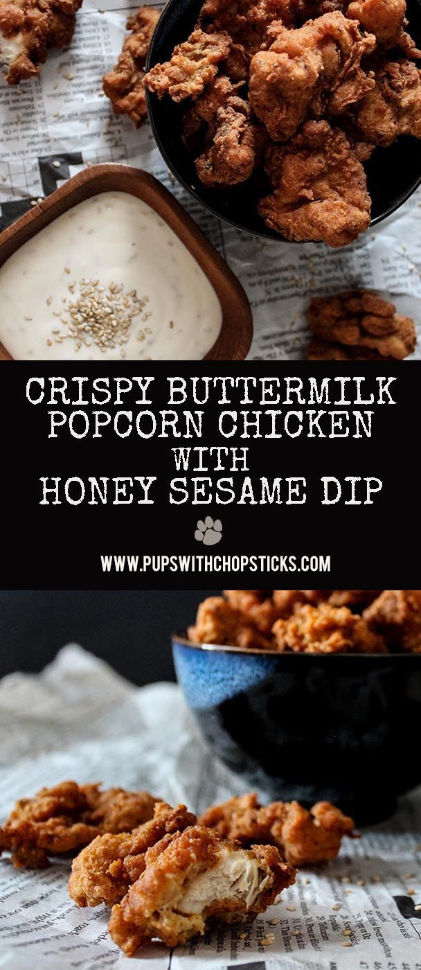 These crispy double-fried bite sized chicken go amazingly with our sweet creamy honey sesame dip. Perfect for sharing as a snack or appetizer.