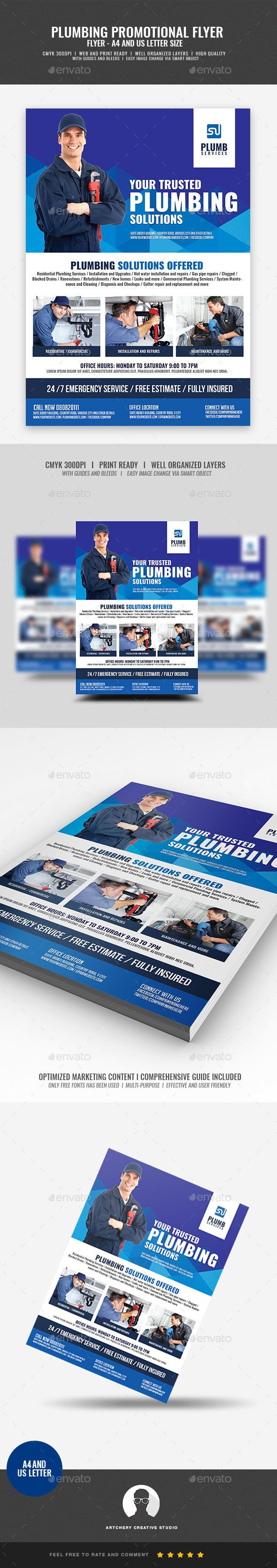 Plumbing #Company Promotional #Flyer - Commerce Flyers