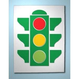 Stop light wall art