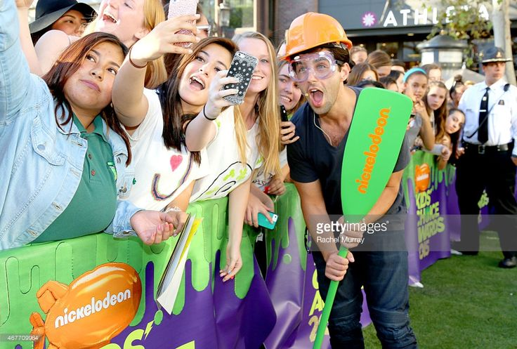 Actor Josh Peck hosts Nickelodeon's 2015 Kids' Choice Awards pinata tickets giveaway at The Grove...