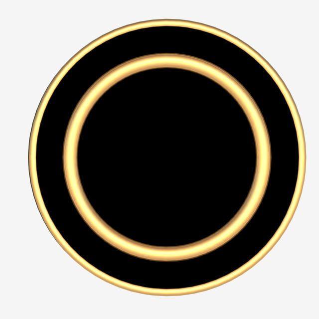 دائرة الذهب الأسود والحدود الحدود Png و Psd Gambar Bingkai Pencak Silat