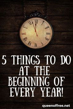 Check out this essential list of things you must do at the beginning of every year. Best of all, they take only an afternoon's worth of time.
