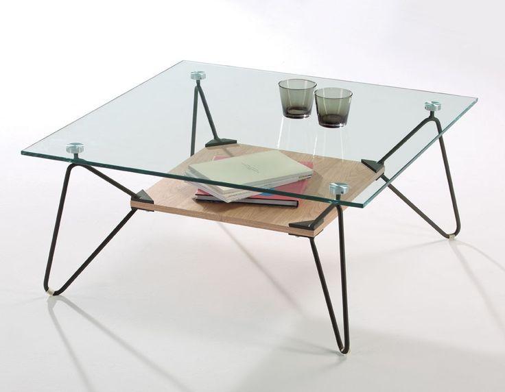 Les 17 meilleures id es de la cat gorie tables basses en verre sur pinterest - Table basse design verre et metal ...